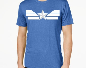 Captain America Running Shirt (Quick Dry, Anti-odor)