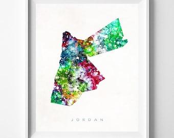 Jordan Map Print, Amman Print, Jordan Poster, Dorm Wall Art, Map Art, State Art, Giclee Art, Map, Travel Poster, Fathers Day Gift