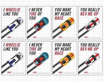 Car Valentine | Valentines Card | Racecar Valentine | School Valetines | Printable Valentines Cards | INSTANT DOWNLOAD