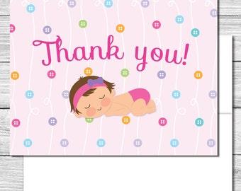 Thank you Notes--Cute as a Button Party--503S