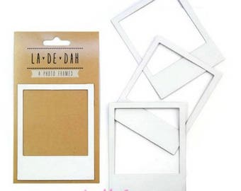 "Set of 4 photo frames wall decal polaroid ""La De Dah"" decor scrapbooking (ref.110). *."