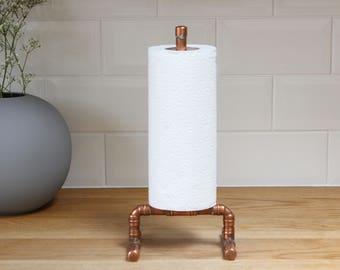 Copper Kitchen Roll Holder | Towel Holder | Copper Pipe | Handmade |  Bespoke | Industrial