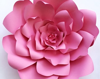 Paper flower tutorial, paper flower backdrop, Paper flower template, DIY paper flower pattern, large paper flower template, wedding decor