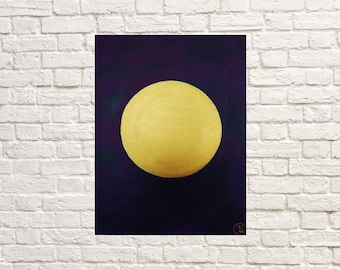 7 Original Abstract Painting Modern Full moon Interior paint Symbolism Modern Art Painting paints Oil paints