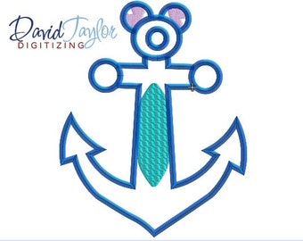 DCL Anchor Stitch - 4x4, 5x7 and 6x10 in 7 formats - Applique - Instant Download - David Taylor Digitizing