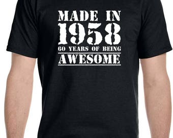 Made in 1958,60 years of being Awesome Men's T-Shirt