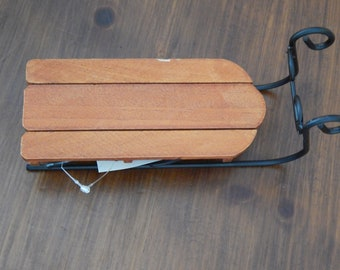 Large Wooden Sled