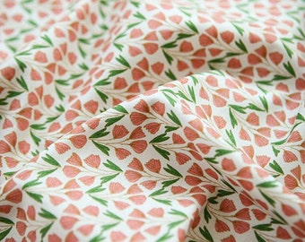 """Lovely Flower Pattern Cotton Fabric by Yard """"Sonia"""""""