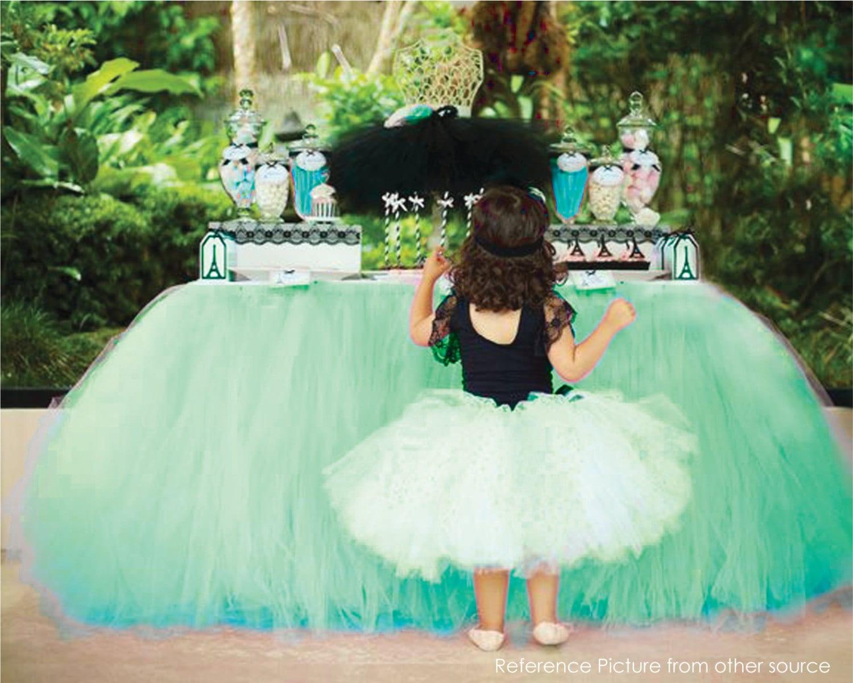 Tinkerbell Inspired Green Table Tutu Skirt MADE TO ORDER Tulle