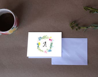 Initial Stationery Card Sets