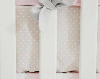 Pink Damask Cross My Heart Crib Baby Bedding | Crib Sheet