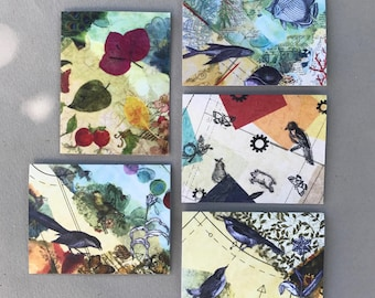 Beeswax Collage Images—Variety Pack A: 5 Different Images/Envelopes