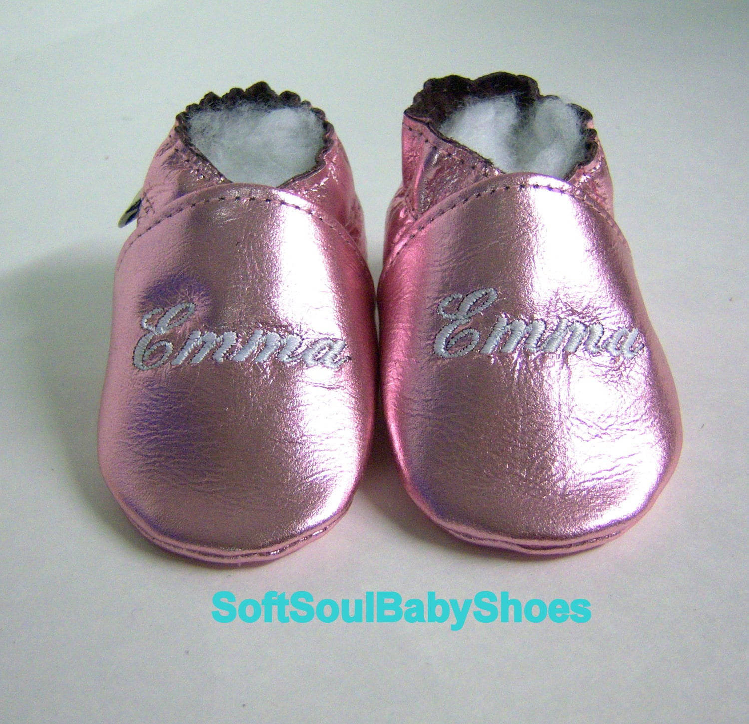 Baptism shoes Rose gold leather baby shoes soft sole baby baptism