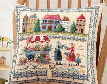 Cross Stitch kit Modern, Embroidered Cushion Kit, Japanese counted Cross Stitch Kit, Onoe Megumi,Hand Embroidery Kit, Embroidered DIY,EK379