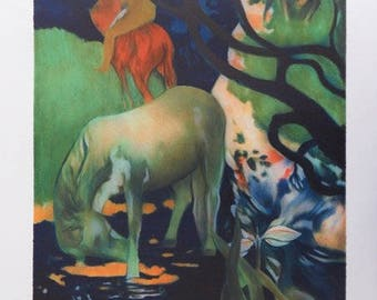GAUGUIN Paul :  Vahinée and the white horse - Original LITHOGRAPH signed and numbered #250 copies