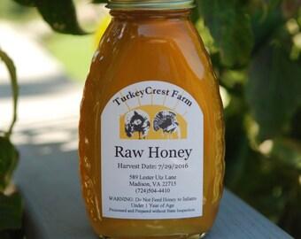 Raw Honey, Wild Flower Honey, Virginia Honey, Clover Honey, All Natural, 100% Pure