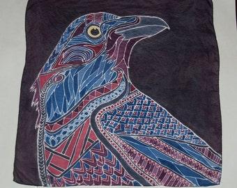 Raven Silk Painting