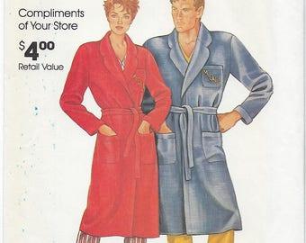 McCalls 0011 - VINTAGE - Misses & Mens Robe - S, M, L, XL