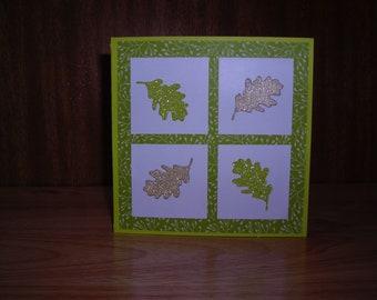 Oak leaf greetings card