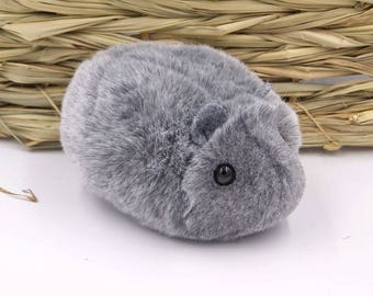 Gray Toy Hamster Cute Handmade Plushie
