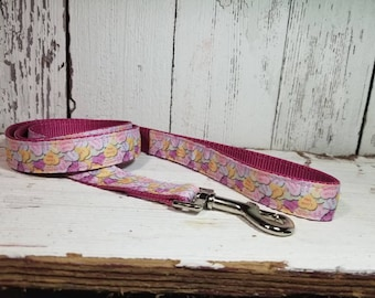 Candy Hearts Dog Leash 4 ft - Ready To Ship - 4 Foot Dog Leash - Valentine's Day Dog Leash