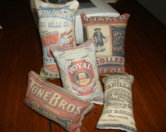 5 pc baking supplies themed ornies decorative bowl fillers primitive shabby tucks