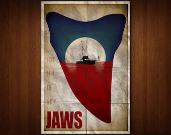 Jaws Poster (Multiple Sizes)