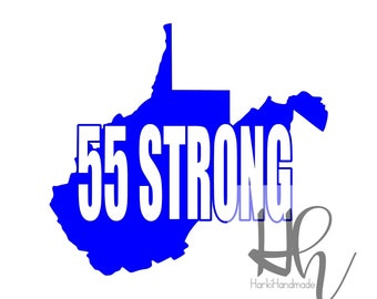 West Virginia/ WV STRONG/ 55 Strong/ WV United/ 55 United/ Teacher/ Service Personnel/ support/ car decal/ car sticker/