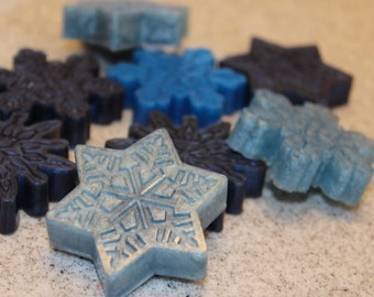 Snowflakes soap, goat milk  soap, unisex, gift idea, handmad, handmad soap, melt and pour, winter soap, Christmas Soap, Soap, Holiday soap