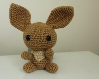Crochet Chibi Eevee Pokemon Plushie