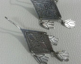 Old Berber Earrings Khamsa Morocco