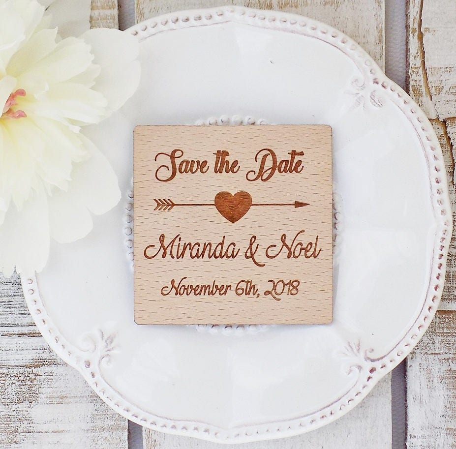 Wedding Favors Wedding Favor Ideas Save-The-Date Magnet Wooden ...