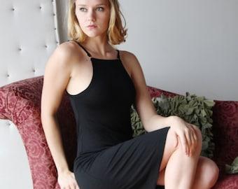 little black dress - wool blend womens lounge wear lingerie and sleepwear range - ready to ship - size Large - color Black