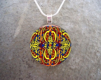 Celtic Jewelry - Glass Pendant Necklace - Celtic Decoration 13