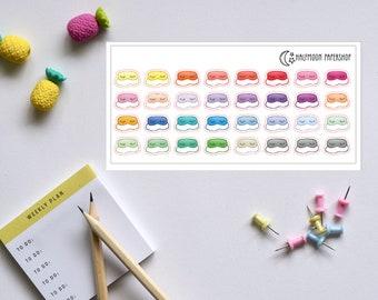 Sleep Eye Mask planner stickers Multicolor