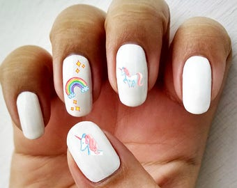 Magical Unicorn - Water Slide Nail Decals