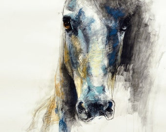 """8""""x12"""" - Photo print of a Horse Head Drawing"""