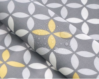 Laminated Cotton Fabric Clover Gray