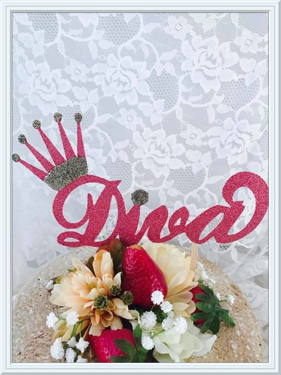 Diva Cake Topper Diva Party Decorations Diva Party Decor