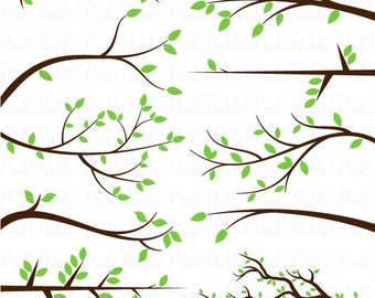 Branch Silhouettes SVGs, Limbs and Branches Cutting Templates - Commercial and Personal Use