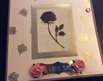 Handmade Valentine Card -Flower