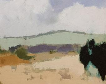 ORIGINAL landscape painting oil landscape abstract landscape 20x20 pamela munger