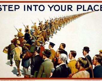 1915 World War One British Recruitment Poster A3/A2 Print