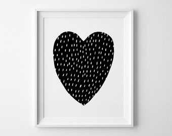 Mini Learners nursery print, kids wall art, You are my heart print, affiche scandinave, nursery decor, black and white art, nursery poster