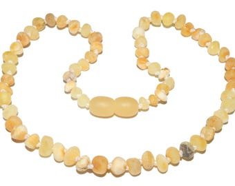 Genuine Raw Baltic Amber Baby Teething Necklace Butterscotch