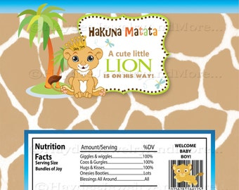 Lion king Baby shower Candy Bar Wrappers-Nala Lion King Instant Download!!