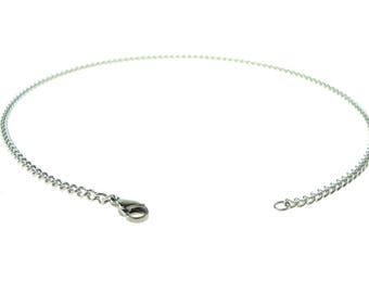 Stainless Steel Chain 19 Inch (48cm) With Lobster Claw Clasp
