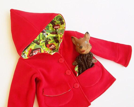 LITTLE RED Riding Hood Girl Jacket pattern Pdf sewing Coat