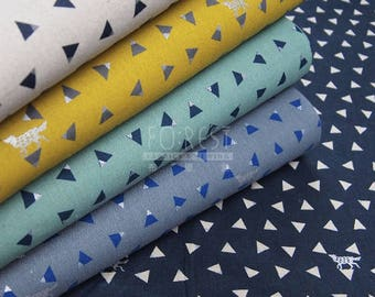 Echino 2018SS triangle cotton linen Japanese Fabric - 50cm