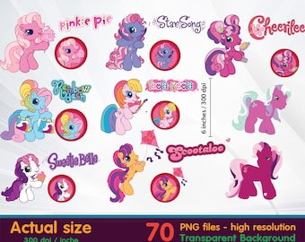 Little Pony clipart - Minnie Clipart Digital 300 DPI PNG Images, Photos, Scrapbook, Cliparts - Instant Download